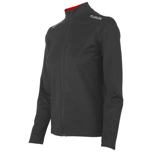 fusion s2 women's performance running jacket black front