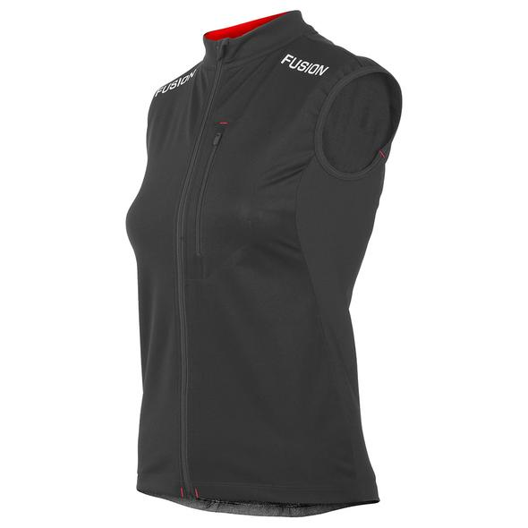 FUSION S2 running performance vest women's black front