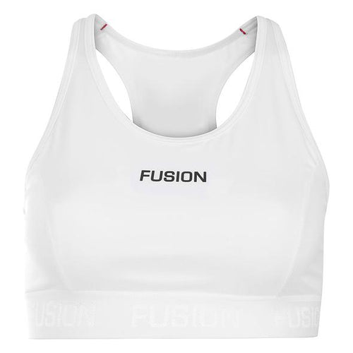 fusion women's multipurpose sports bra running top white front