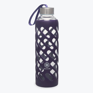 gaiam sure grip water bottle 20 oz amethyst