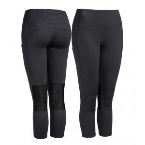 expert pocket capris running leggings women's black