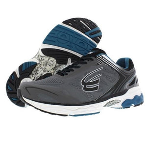 spira aquarius men's running shoe charcoal / blue