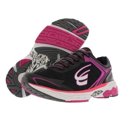 spira aquarius women's running shoe black / coral / white