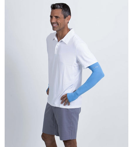 bloquv running sleeves ocean blue