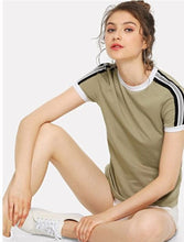 Load image into Gallery viewer, Striped Ringer Tee Women's
