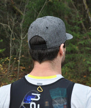 Load image into Gallery viewer, naked sports herringbone running hat backside