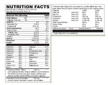 Load image into Gallery viewer, balance complete nutrition label