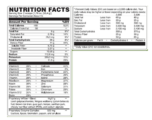 balance complete nutrition label