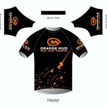 Load image into Gallery viewer, orange mud stretchy short sleeve running shirt black
