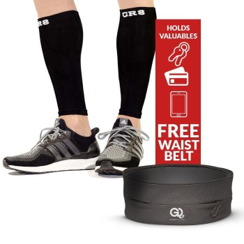 go2 compression calf sleeve black