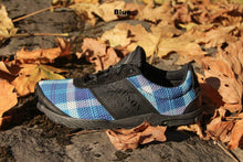 Load image into Gallery viewer, carson footwear tartan racer in blue plaid
