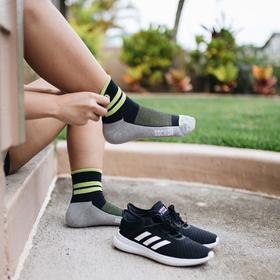 Bamboo Charcoal Ankle Performance Sock 3-Pack Unisex