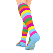 Load image into Gallery viewer, GO2 ELITE compression socks multi stripes