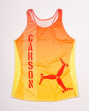 Load image into Gallery viewer, women's fire moisture wicking running singlet