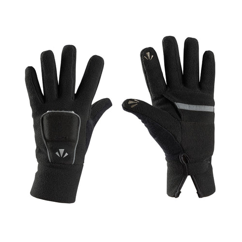 runlites fleece ii led running gloves black
