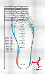 carson footwear sizing guide