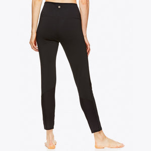 gaiam leela rib leggings black back
