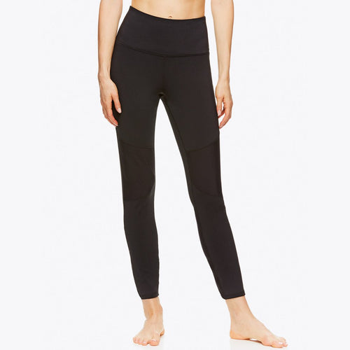 gaiam leela rib leggings black front view