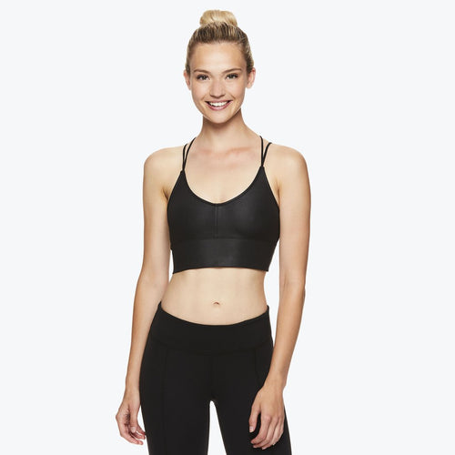 gaiam waverly bralette womens black front