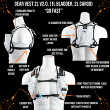 Load image into Gallery viewer, orange mud gear vest 2L white