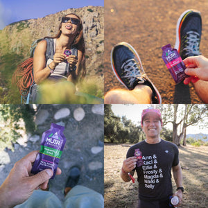 runners consuming gels during workout