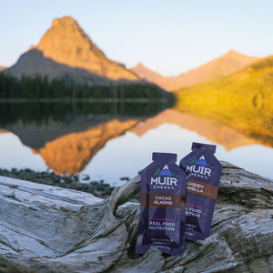 running gels pictured with lake in background