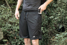 Load image into Gallery viewer, kippo mens smartphone shorts close up view
