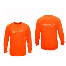 Load image into Gallery viewer, ruseen running unique mens long sleeve reflective tee good idea orange