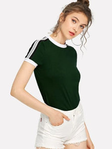 Striped Ringer Tee Women's