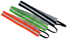 Load image into Gallery viewer, ruseen running reflective headband available in orange green or black