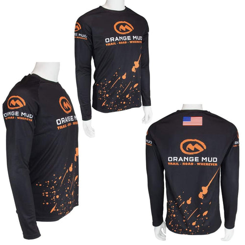 orange mud high performance heavyweight running shirt unisex