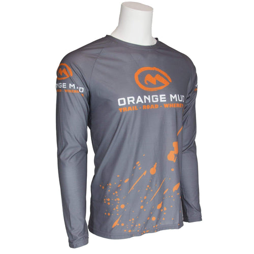 orange mud long sleeve performance tee