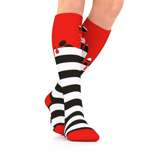 red ooze holiday compression socks by go2
