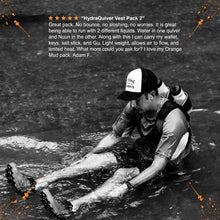 Load image into Gallery viewer, orange mud hydraquiver vest pack 2 man in stream