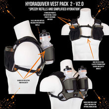 Load image into Gallery viewer, orange mud hydraquiver vest pack 2 gray on gray
