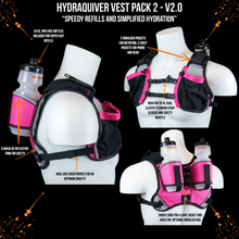 Load image into Gallery viewer, orange mud hydraquiver vest pack 2 pink and gray