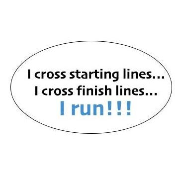 I Cross, I Run Decal from Runolution