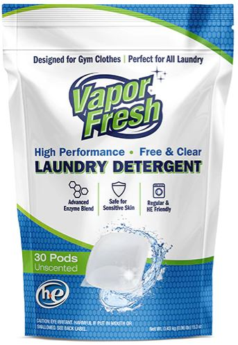 vapor fresh laundry pods front