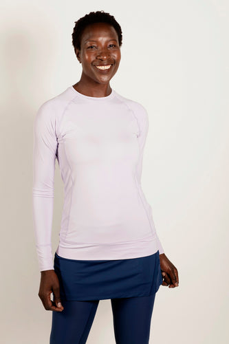 bloquv women's sun protection running pullover long sleeve lavender