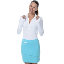 Load image into Gallery viewer, bloquv lifestyle skort women's sun protection light turquoise