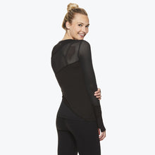 Load image into Gallery viewer, Madison Women's Long Sleeve Mesh Top side and back