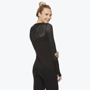 Madison Women's Long Sleeve Mesh Top side and back