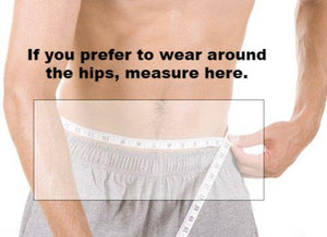 naked running band measurement guide hip