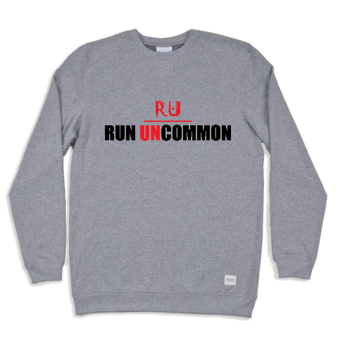 run uncommon crewneck running unisex heather grey
