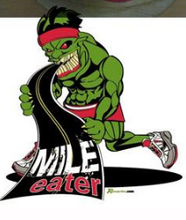 Load image into Gallery viewer, runolution mile eater performance running hat logo detail