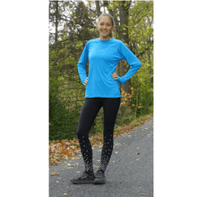 Load image into Gallery viewer, ruseen woman in reflective running tights