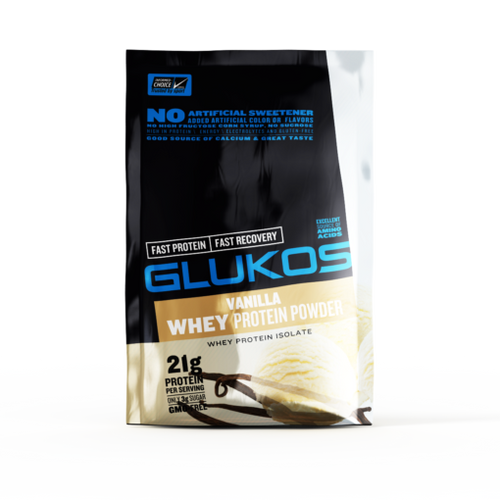glukos protein powder packet vanilla