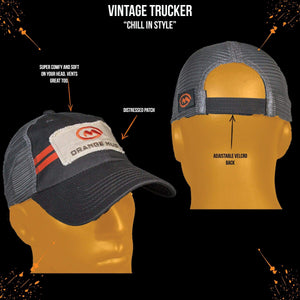 orange mud trucker hat