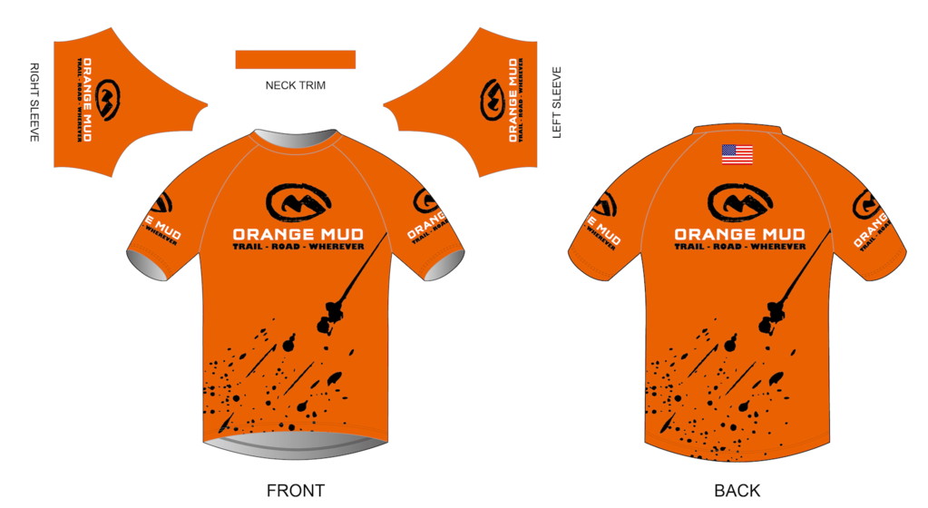orange mud stretchy short sleeve running shirt orange