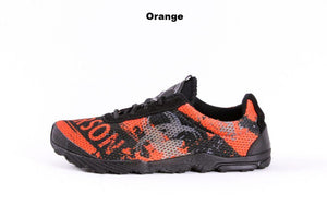 zombie racer performance trail shoe in orange